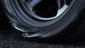 The 2018 Dodge Challenger SRT Demon is factory equipped with Nitto NT05R street-legal drag radials, measuring 12.6 inches wide and developed specifically for the Dodge Challenger SRT Demon using a new compound and unique tire construction. The added traction and higher profile of these new tires allow the Challenger SRT Demon to handle higher launch torque loads.