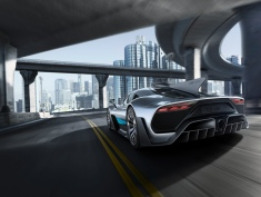 Showcar Mercedes-AMG Project ONE, zweisitziger Supersportwagen-mit modernster und effizientester Formel 1-Hybrid-Technologie, High Performance Plug-in Hybrid Antriebsstrang mit 1,6-Liter-V6-Turbobenzinmotor und vier Elektromotoren // Showcar Mercedes-AMG Project ONE, two-seater supersports car with the very latest and efficient, fully-fledged Formula 1 hybrid technology, high-performance plug-in hybrid drive system with 1.6 1.6-litre V6 turbocharged petrol engine and four electric motors